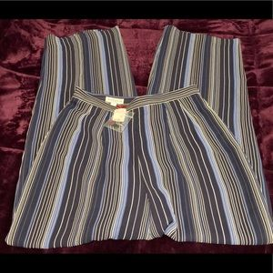NWT Ann Taylor blue and whit striped dress pants
